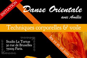 Stage de découverte de la danse orientale les 25 et 26 juin