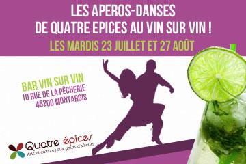 Les apéros-danses de Quatre Epices au Vin sur Vin !