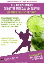 Les aperos-danses de Quatre Epices au Vin sur Vin !