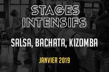 Formations intensives de janvier : salsa, bachata, kizomba